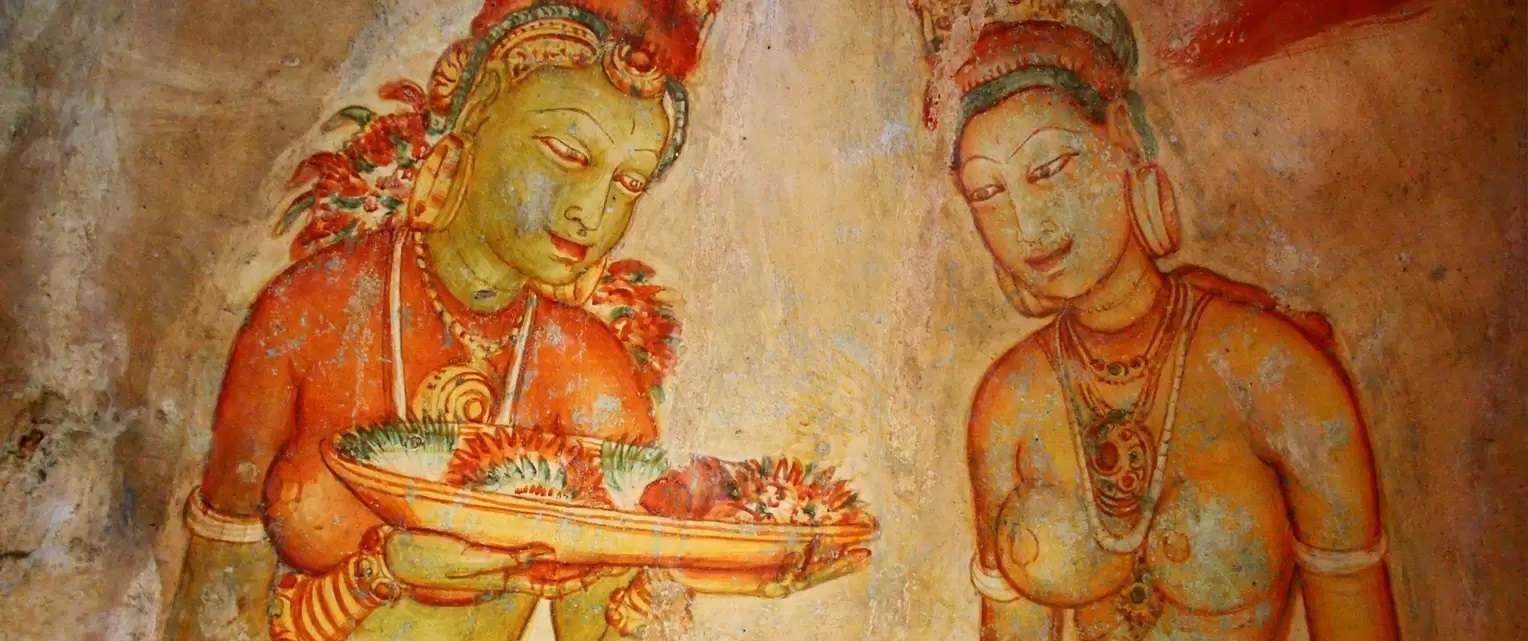 Frescoes-at-Sigiriya